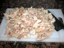cut chicken