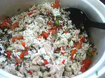 chicken, lentils and rice