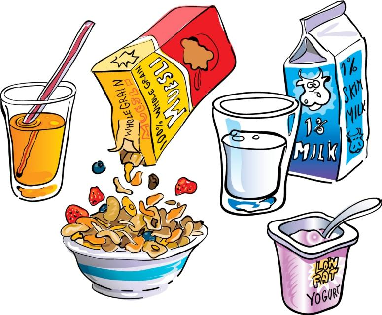 School Lunch Clipart Breakfast Items clipart