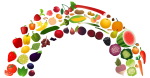 Rainbow_2.png - Fruit, vegetable, rainbow, image, n