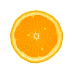 orange, slice, fruit