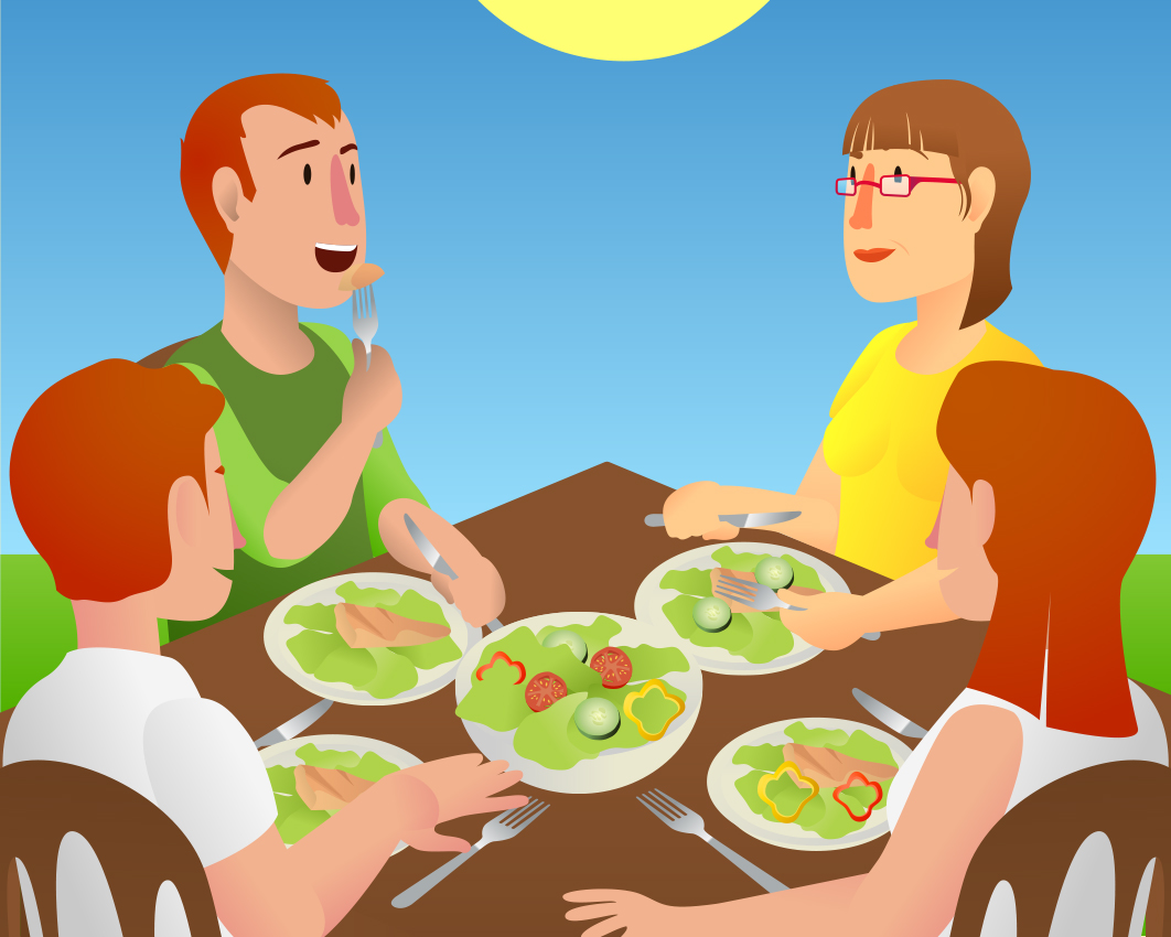 View Family_Eating_Outdoors.jpg Clipart - Free Nutrition ...