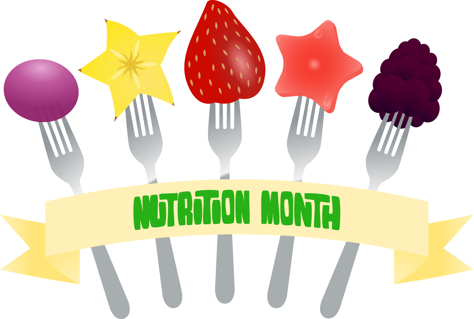 view nutrition month fork banner png clipart free nutrition and rh foodandhealth com child nutrition clipart nutrition clipart images