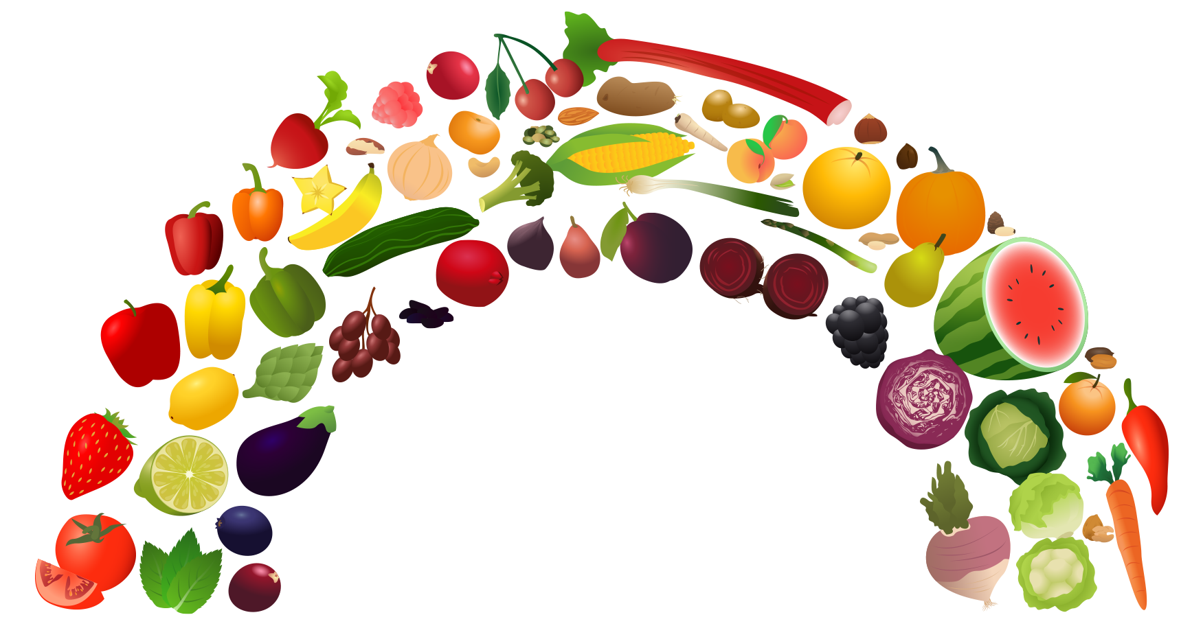 View Rainbow_2.png Clipart - Free Nutrition and Healthy ...