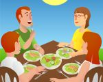 Family_Eating_Outdoors.jpg - Family, eating, together, outdoors,