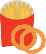 Fries_and_Onion_Rings.png - Fries, Onion Rings, Fast, Food