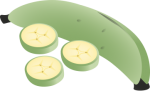 Plantains.png - plantain, green, bananas