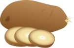 Potatos.png - Potato, sliced, vegetables, root