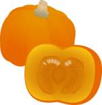 Pumpkin.png - Pumpkin, sliced, vegetable, gourd