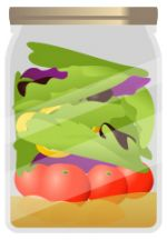 Salad_Jar.jpg - salad, jar, dressing, toppings, gre