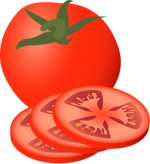 Tomato.png - Tomato, Sliced, Fruit