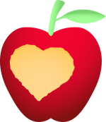 V_apple_21.png - Valentines Day, Fruit, Apple, Heart