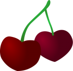 V_cherries1.png - Valentines Day, Fruit, Cherry, Hear