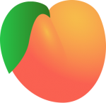 V_peach1.png - Valentines Day, Fruit, Peach, Heart