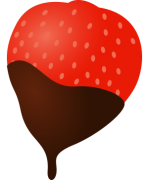 V_strawberry_choc1.png - Valentines Day, Fruit, Strawberry,